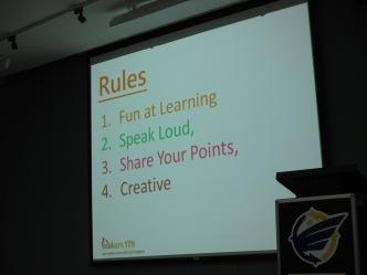 上課的規則