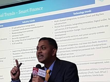 印度 TATA Consulting Services (TCS) Mr. Karthi 總經理.
